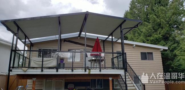【露台上盖及围栏搭建,室内外装修】一站式服务,价格公道+手艺精湛!高效高质低价是您的最佳选择!