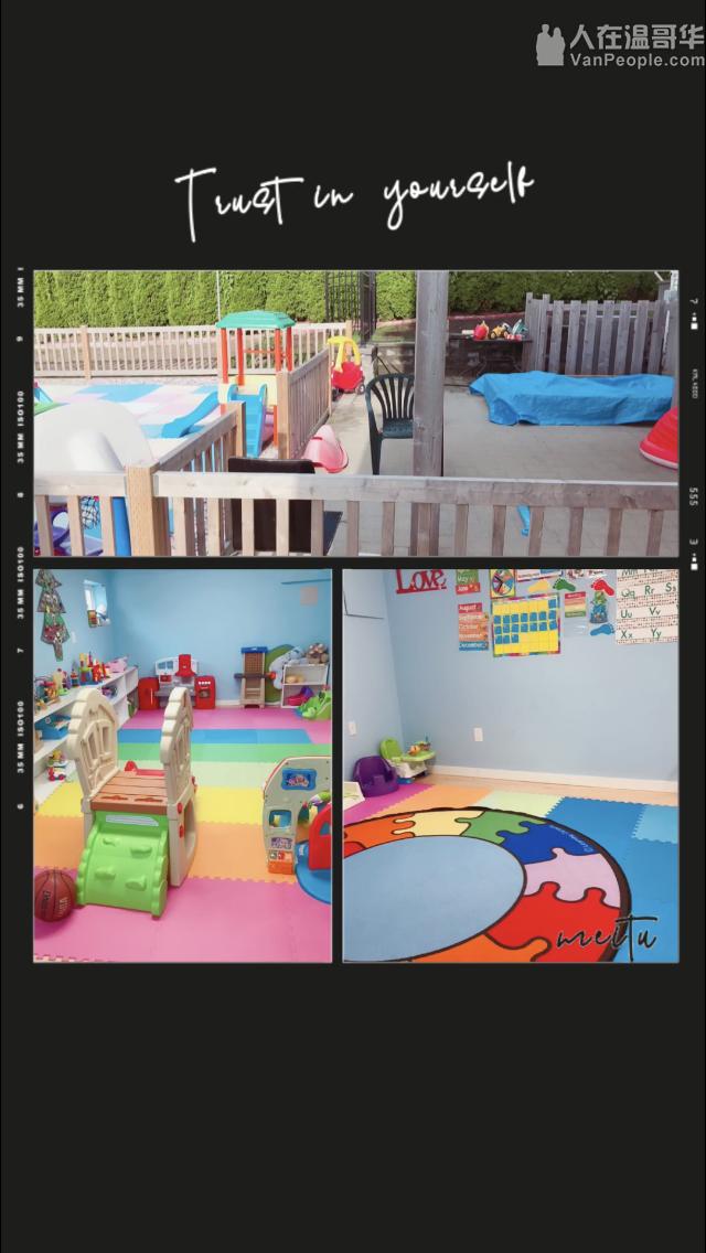Burnaby的daycare提供周六日临时托儿!周一至周五1-3岁的2020年1月有位置。