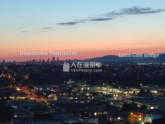 本拿比近Gilmore Skytrain, 高层豪华酒店式公寓, 咫尺到温哥华市