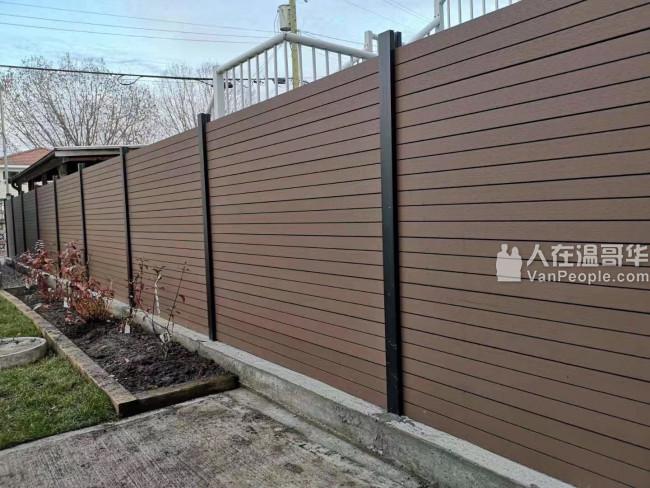专业销售安装塑钢(PVC Vinyl),木塑(WPC)围栏。BC注册公司,免费估价