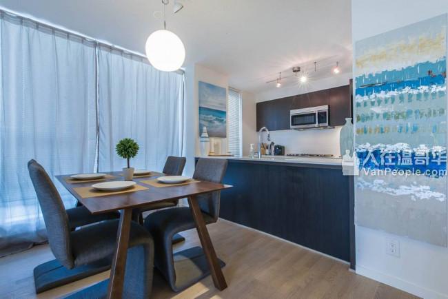 温哥华西区与列治文市中心2套豪华2室2卫精品家具民宿