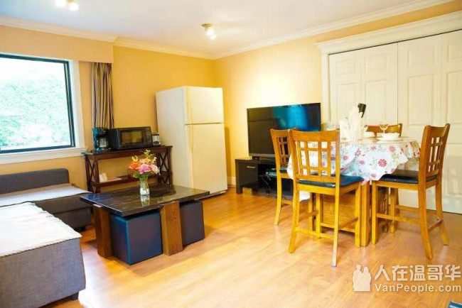 列治文 宁静舒适四房两厅和两房一厅独立进出单位出租,交通方便