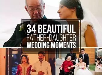 女儿婚礼上的父亲,34个瞬间:世间有你真好!(超感人)