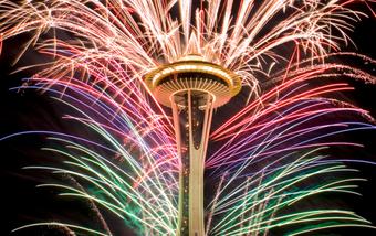 西雅图Space Needle跨年夜烟火表演!太壮观不能错过!