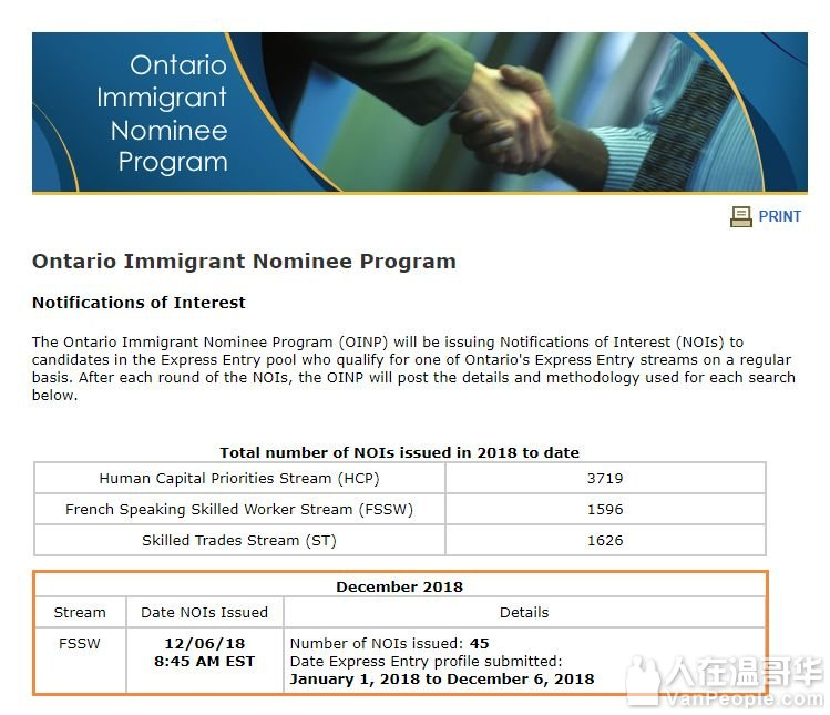 【快讯】加拿大安省移民局公布最新法语优先类别NOI邀请情况